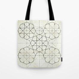 Geometry Sketch Nine Tote Bag