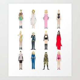 Outfits of Madge Fashion Art Print