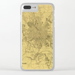 Vintage Baltimore Map 1919 Clear iPhone Case
