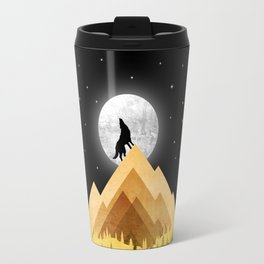 Wolf Night Travel Mug