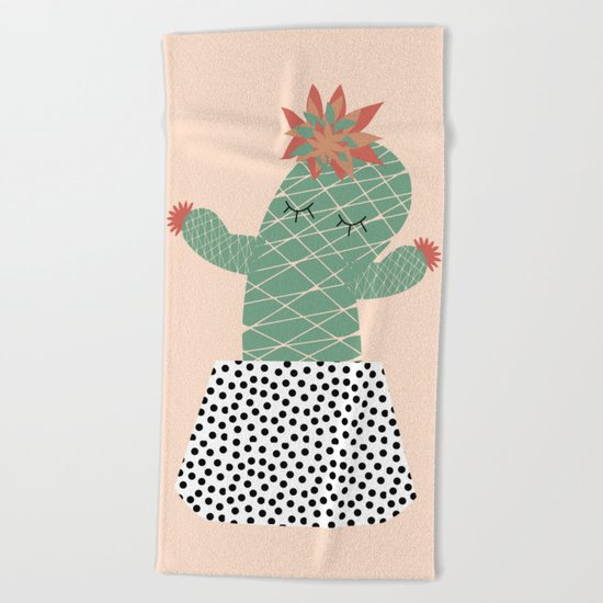 Mrs Succulent Beach Towel