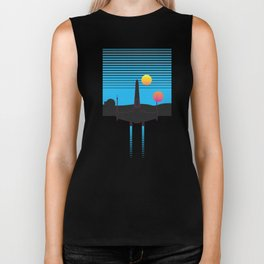 Retrowave Rebel Biker Tank