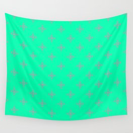 Ornamental Pattern with Mint and Grey Colourway Wall Tapestry