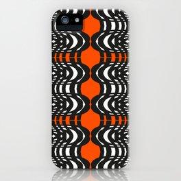 Black and Orange Illustion iPhone Case