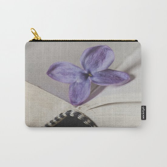 Lilac Bookmark Carry-All Pouch