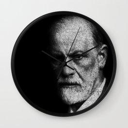 Sigmund Freud quote Wall Clock