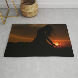 All the World Is Yours Sunset Photograph Rug