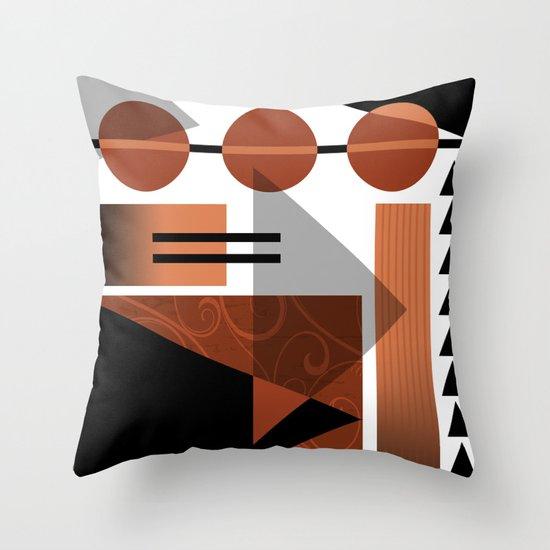AZTEC DESERT | brown Throw Pillow