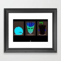 Minimalist Aqua Teen Hunger Force Framed Art Print