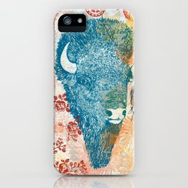 Blue Bison iPhone Case