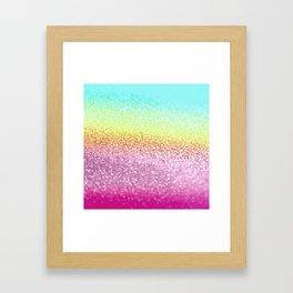 UNICORN GLITTER Framed Art Print