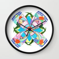 blossom Wall Clocks featuring Blossom by Heaven7