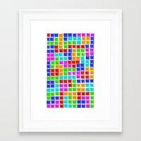 tetris Framed Art Prints featuring Tetris by MarioGuti