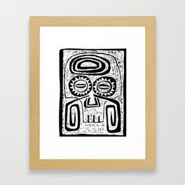 Tiki Skull Framed Art Print