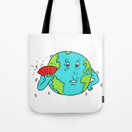 Earth Global Warming Drawing Color Tote Bag