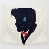 dr who Wall Tapestries featuring Dr Who - Geronimo by Duke Dastardly