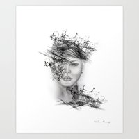 Abstract Portrait II Art Print