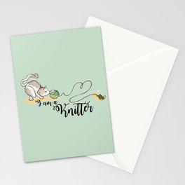 I am a knitter Stationery Cards