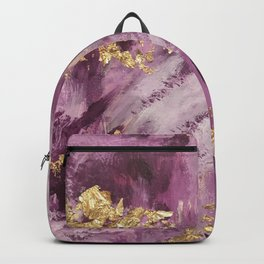 Pink, Purple and Gold Abstract Glam Backpack