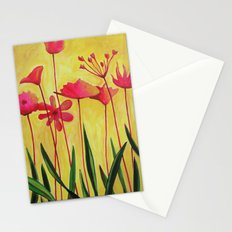 Pink on Yellow Stationery Cards