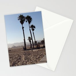 Santa Monica Beach in California Stationery Cards