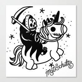 Reaper Unicorn Canvas Print