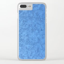 Winter Christmas Blue Window Clear iPhone Case