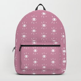Eye pattern in pink Backpack