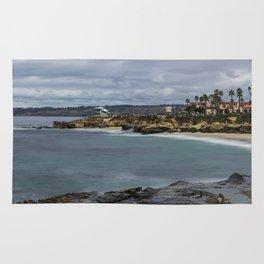Casa and Wipeout Beaches, La Jolla, California Rug