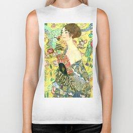 """Gustav Klimt """"Lady with fan"""" Biker Tank"""