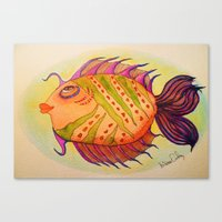 potter Canvas Prints featuring MRS. POTTER by Caribbean Critters Co.