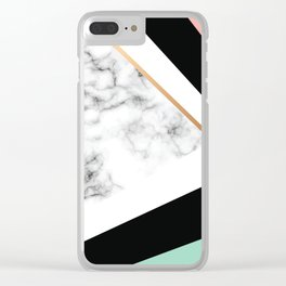 Marble III 031 Clear iPhone Case