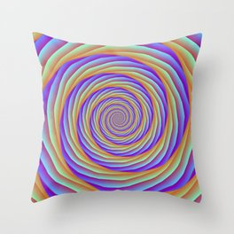 Coiled Cables in Orange Blue and Pink Throw Pillow