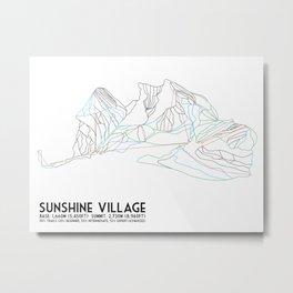 Sunshine Village, Alberta, Canada - Minimalist Trail Art Metal Print