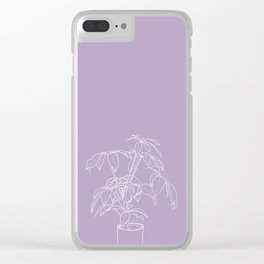 Happy House Plant Clear iPhone Case