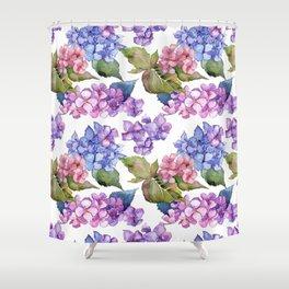 Hydrangea Pattern 03 Shower Curtain
