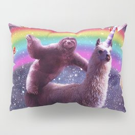 Sloth Riding Llama Pillow Sham