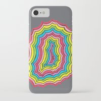 geode iPhone & iPod Cases featuring Rainbow Geode by Audrey Pixel Designs