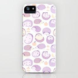 Happy Hedgies - Kawaii Hedgehog Doodle iPhone Case
