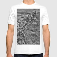 Peak District Dry Wall BW Mens Fitted Tee White MEDIUM