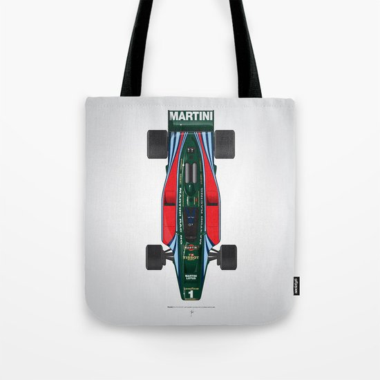 Outline Series N.º2, Mario Andretti, Lotus 80-Ford 1980 Tote Bag