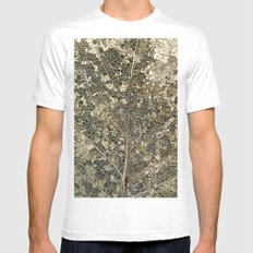 Old gold MEDIUM Mens Fitted Tee White