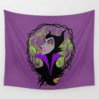 maleficent Wall Tapestries featuring Maleficent by IrisBlue