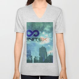 Space Needle - Infinitek Headquarters Seattle Unisex V-Neck