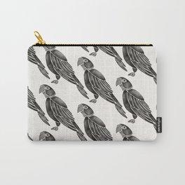 Perched Parrot – Black Palette Carry-All Pouch