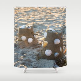Sand castles Shower Curtain