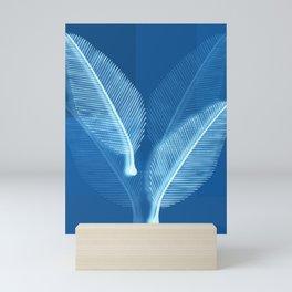 Blueprint Leaves Mini Art Print