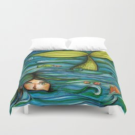 Camouflaged Mermaid  Duvet Cover