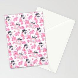 Pink Flowers Fashion Parfume Stationery Cards