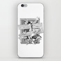 zombies iPhone & iPod Skins featuring zombies by John MacDougall